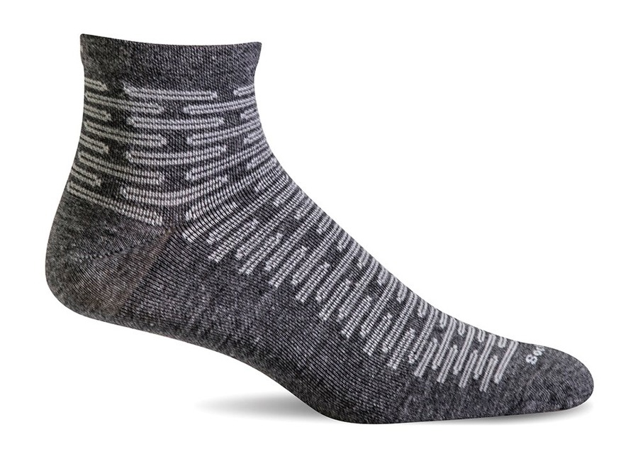 Sockwell Plantar Ease Quater charcoal non ciushion